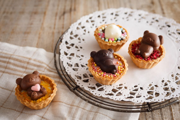 リラックマの製菓シリーズで作ったチョコ