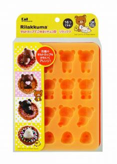 リラックマの製菓シリーズのチョコ抜き型