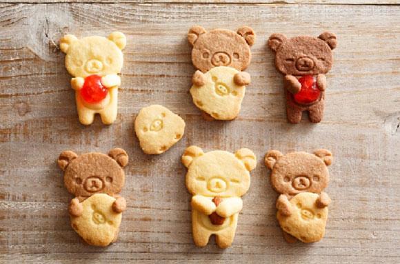リラックマの製菓シリーズで作ったクッキー
