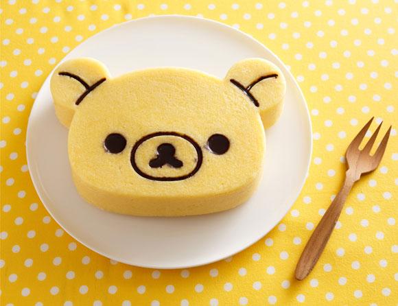 リラックマの製菓シリーズで作ったケーキ